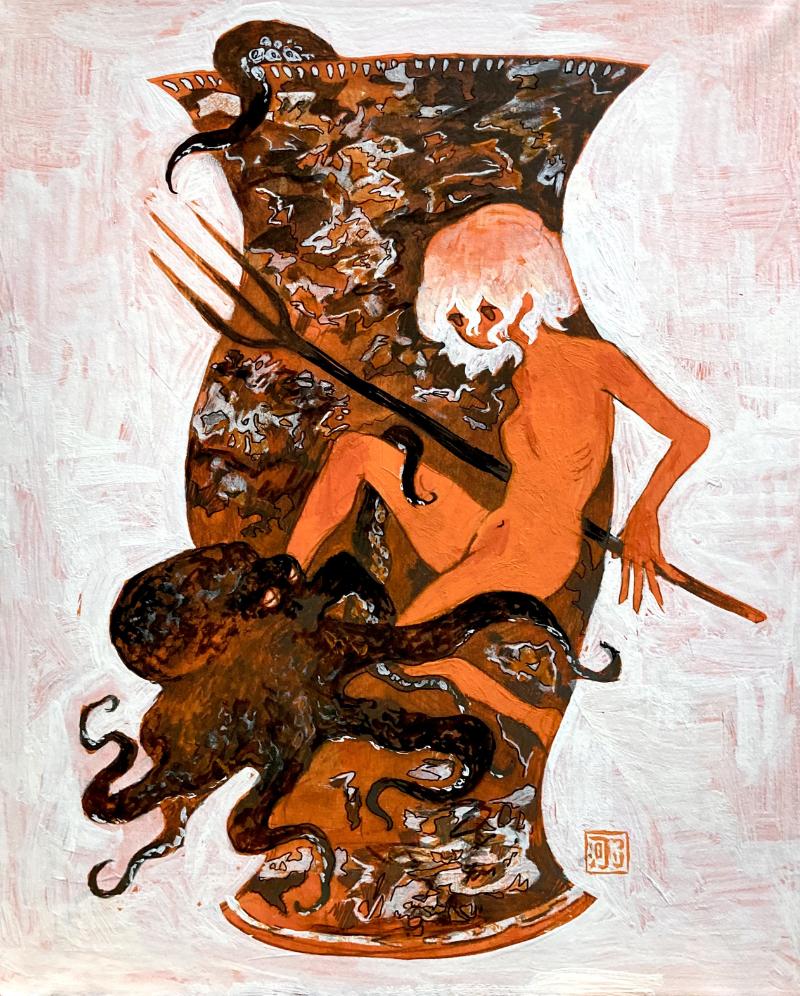 つり河初個展「Naked」作品1