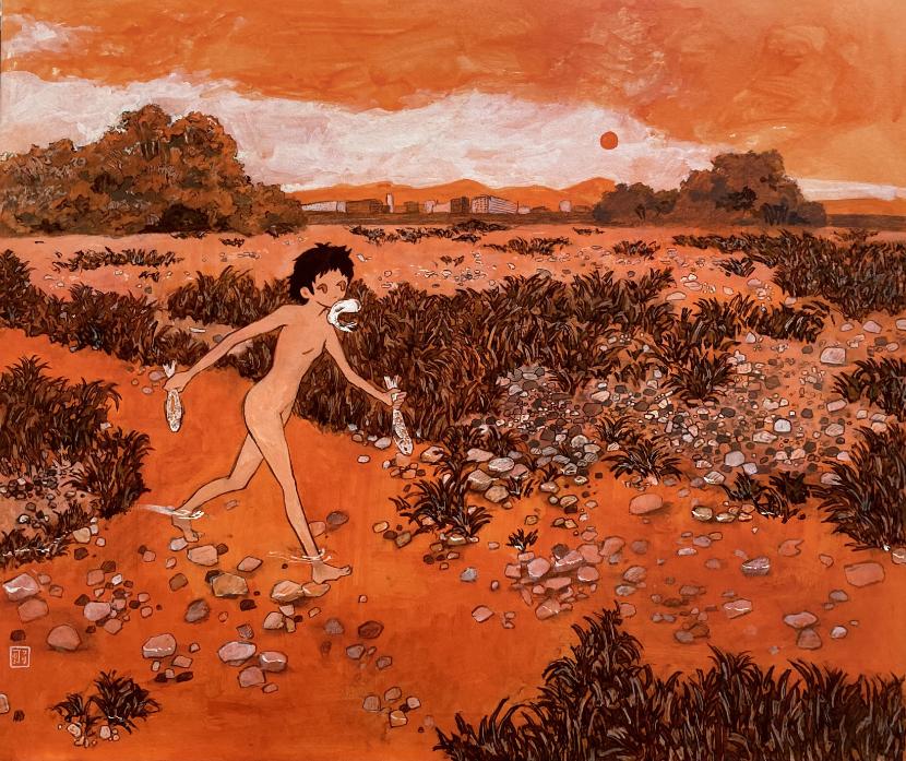 つり河初個展「Naked」作品2